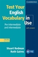 Portada del libro Test Your English Vocabulary in Use Pre-intermediate and Intermediate with Answers 3rd Edition
