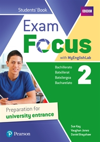 Books Frontpage Exam Focus 2 Student's Book with MyEnglishLab